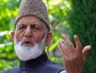 Chairman of All Parties Hurriyat Conference, Syed Ali Gilani than ..