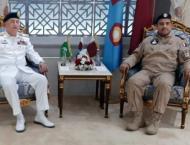 Chief Of The Naval Staff Admiral Zafar Mahmood Abbasi Meets qatar ..