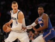 Knicks beat Mavs as Porzingis booed in his first game back