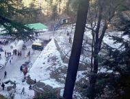 Murree receives four inches snowfall