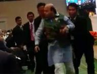 BJP leader taken out by security for interrupting Suri during spe ..