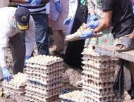 Punjab Food Authority discards 79,200 expired, putrid eggs