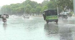 Lahore city receives rain