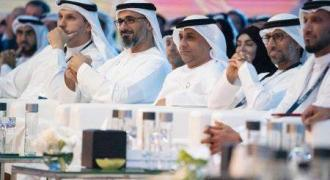 Khalid bin Mohamed bin Zayed meets with Singaporean Minister