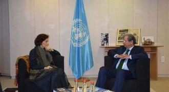 Shafqat expresses concern about IoK children's education with UNESCO DG
