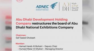 Abu Dhabi National Exhibitions Company Board restructured