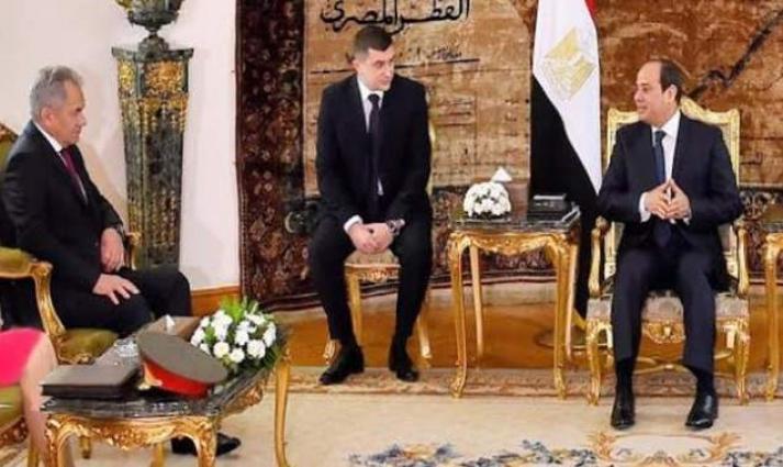 الرئیس المصري عبدالفتاح السیسي یستقبل وزیر الدفاع الروسي الفریق أول سیرغي شویغو