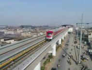 Trial run of Orange Line Metro Train on 10th