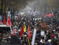 Over 800,000 Join Pension Strike Across France - Interior Ministr ..