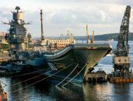Russia's only aircraft carrier on fire in port: news agencies