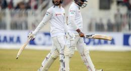 Sri Lanka score 263 for six on day two of rain-hit match