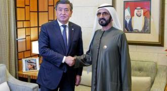 Mohammed bin Rashid receives President of Kyrgyzstan