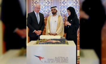 محمد بن راشد يستقبل حاكم عام أستراليا