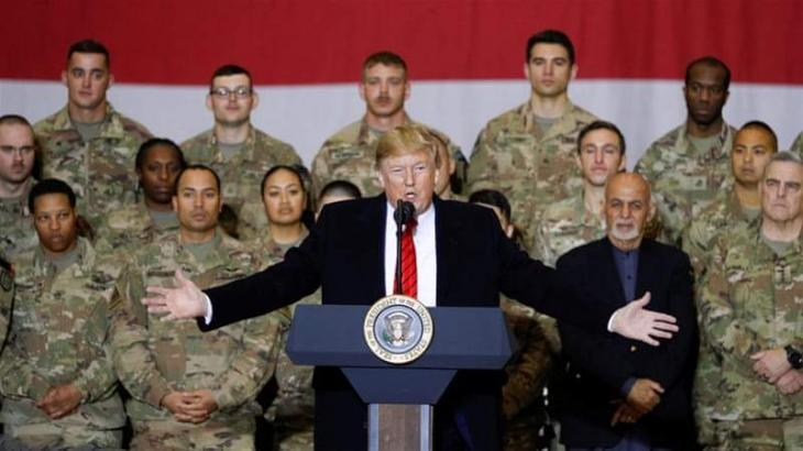 Trump Says Trip to Afghanistan 'Very Successful,' Meeting With Ghani 'Great'