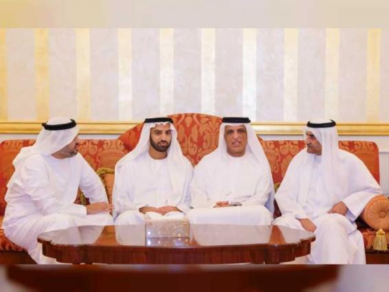 Hamad Al Sharqi receives condolences of RAK Ruler on death of Sheikha Sheikha Al Salami