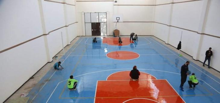 Turkish aid agency holds goal-ball matches for Syrians