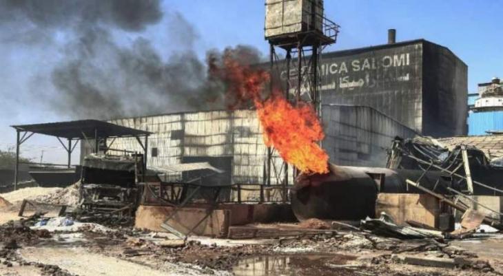 23 killed as fire engulfs Sudan factory