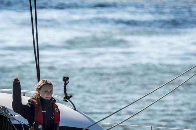 Greta Thunberg sails into Lisbon en route to COP25