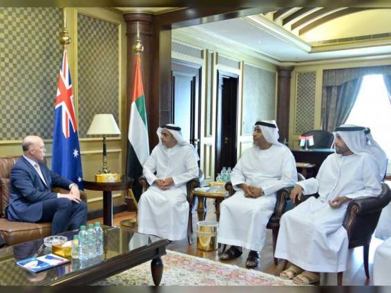 Saif bin Zayed receives Australian Minister for Home Affairs