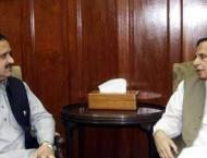 Punjab Assembly Speaker Pervaiz Elahi calls on Chief Minister Pun ..