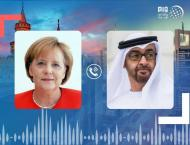 Mohamed bin Zayed receives phone call from German Chancellor