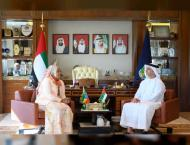 Saif bin Zayed receives Ethiopia's Minister of Peace