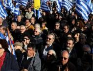 Thousands of Greek islanders protest against migrant camps