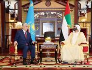 Mohammed bin Rashid receives Kazakh President