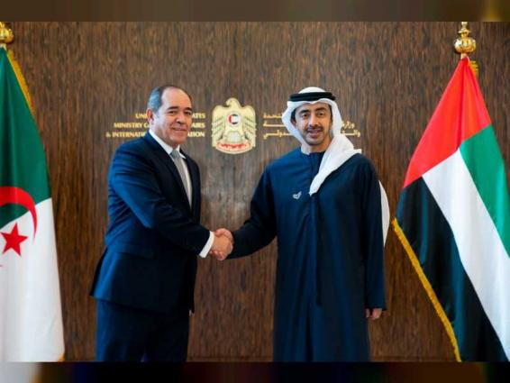 Abdullah bin Zayed receives Algerian Minister of Foreign Affairs