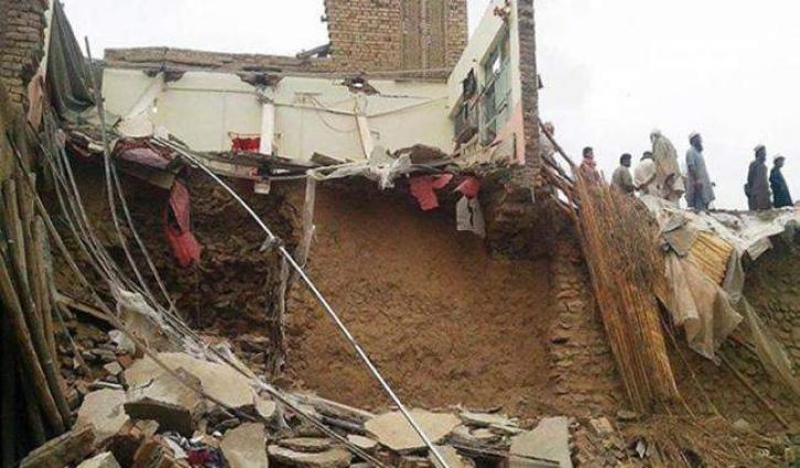 Mud house in Mardan collapsed, one injured
