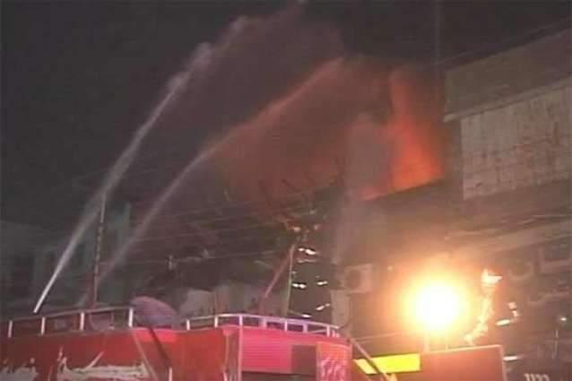 Factory gutted in Faisalabad