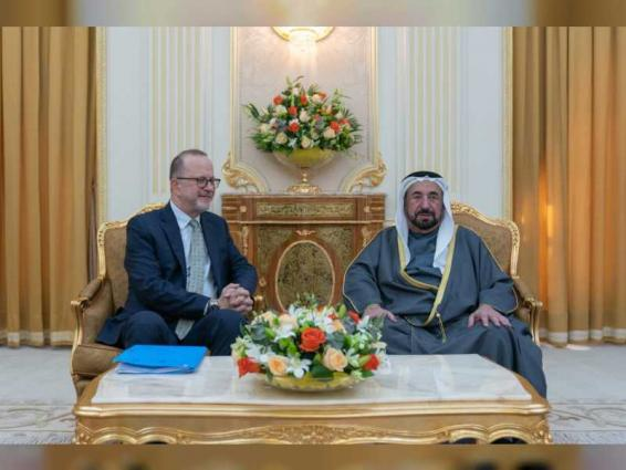 Sharjah Ruler receives UNICEF Regional Director