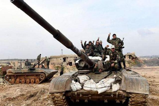 Syria war: Army 'recaptures' key town from opposition in Idlib