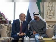 محمد بن زايد يستقبل الرئيس الموريتاني ..