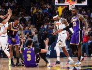 Red-hot Lakers beat Nuggets in overtime, Pacers snap losing strea ..