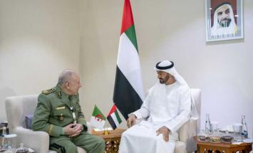 محمد بن زايد يستقبل رئيس أركان الجيش ..