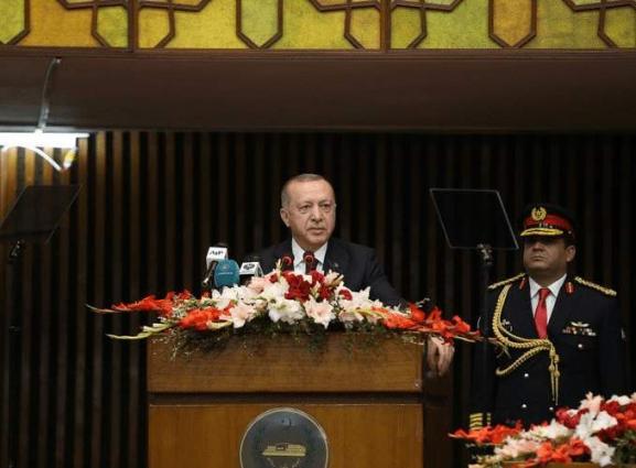 Kashmir's solution lay in just, peaceful solution, not oppression:Turkish President Recep Tayyip Erdogan