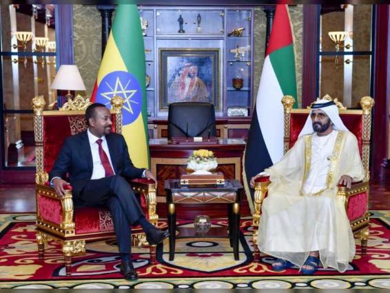 Mohammed bin Rashid receives Ethiopia's PM