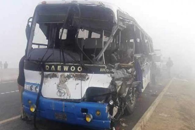 Six passengers injured as bus overturned in Khanewal