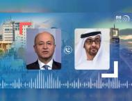 Mohamed bin Zayed, Iraqi President discuss efforts to contain cor ..