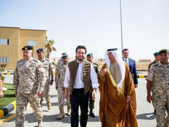 """ولي عهد الأردن يفتتح """"مدينة محمد بن زايد التدريبية"""" في """"الزرقاء"""""""