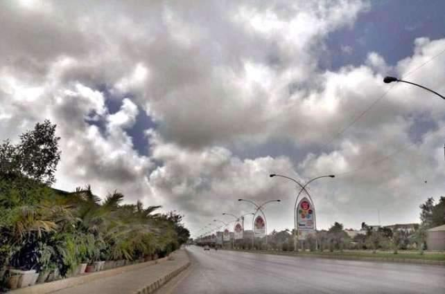 Partly cloudy weather forecast in Karachi on Thursday