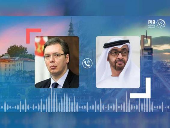 محمد بن زايد يبحث هاتفيا مع رئيس صربيا علاقات البلدين والجهود المشتركة لمواجهة فيروس كورونا