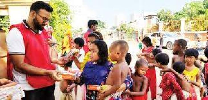 PDF to distribute food packages among 300 needy family