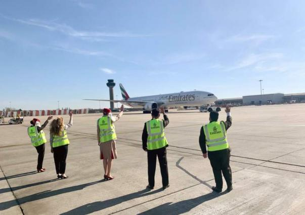 This is not goodbye: Emirates ground crews give an emotional send-off to last flights