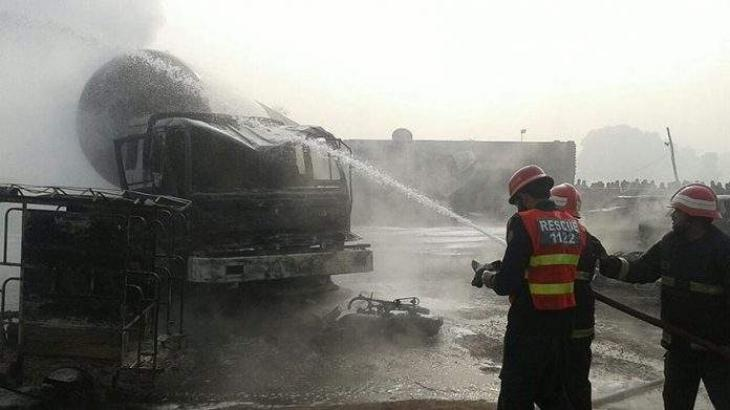 Gas Tanker caught fire; OGRA issues show cause to three companies