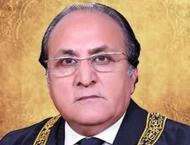 Justice Saeed Akram takes oath as acting CJ AJK Supreme Court.