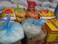 Members of Youth Parliament team distributed ration among needy p ..