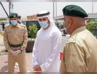 Hamdan bin Mohammed visits security and service departments and m ..