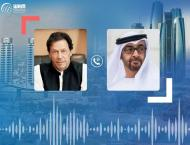 Mohamed bin Zayed offers condolences to Pakistani PM on victims o ..